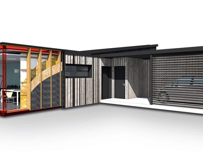 maison modulaire habitation modulaire habitat volutif construction modulaire habitation. Black Bedroom Furniture Sets. Home Design Ideas